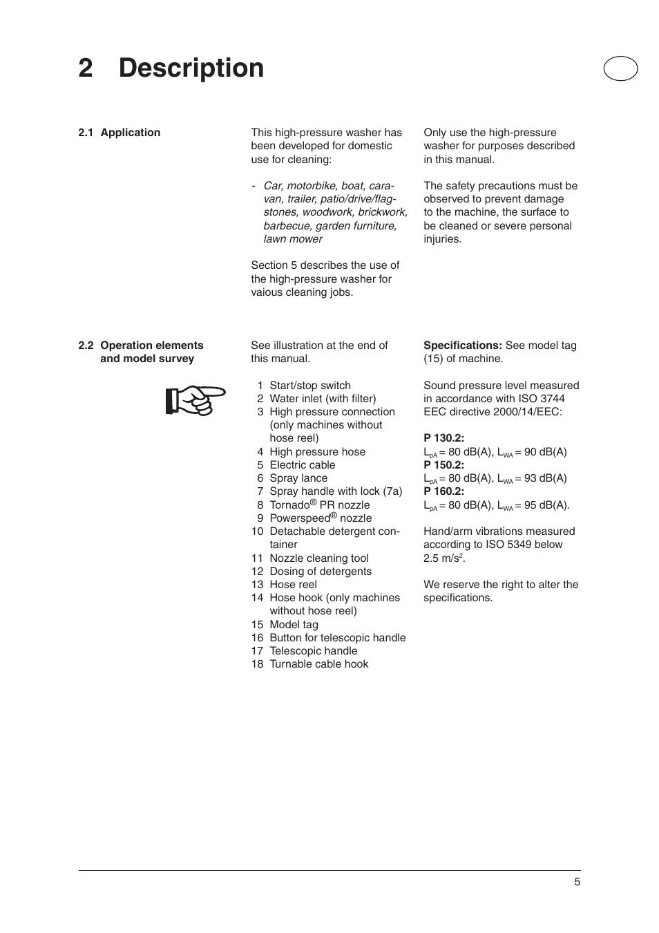 2 description nilfisk advance america p 130 2 user manual page 5   20 Advance Carpet Extractor nilfisk alto user manual