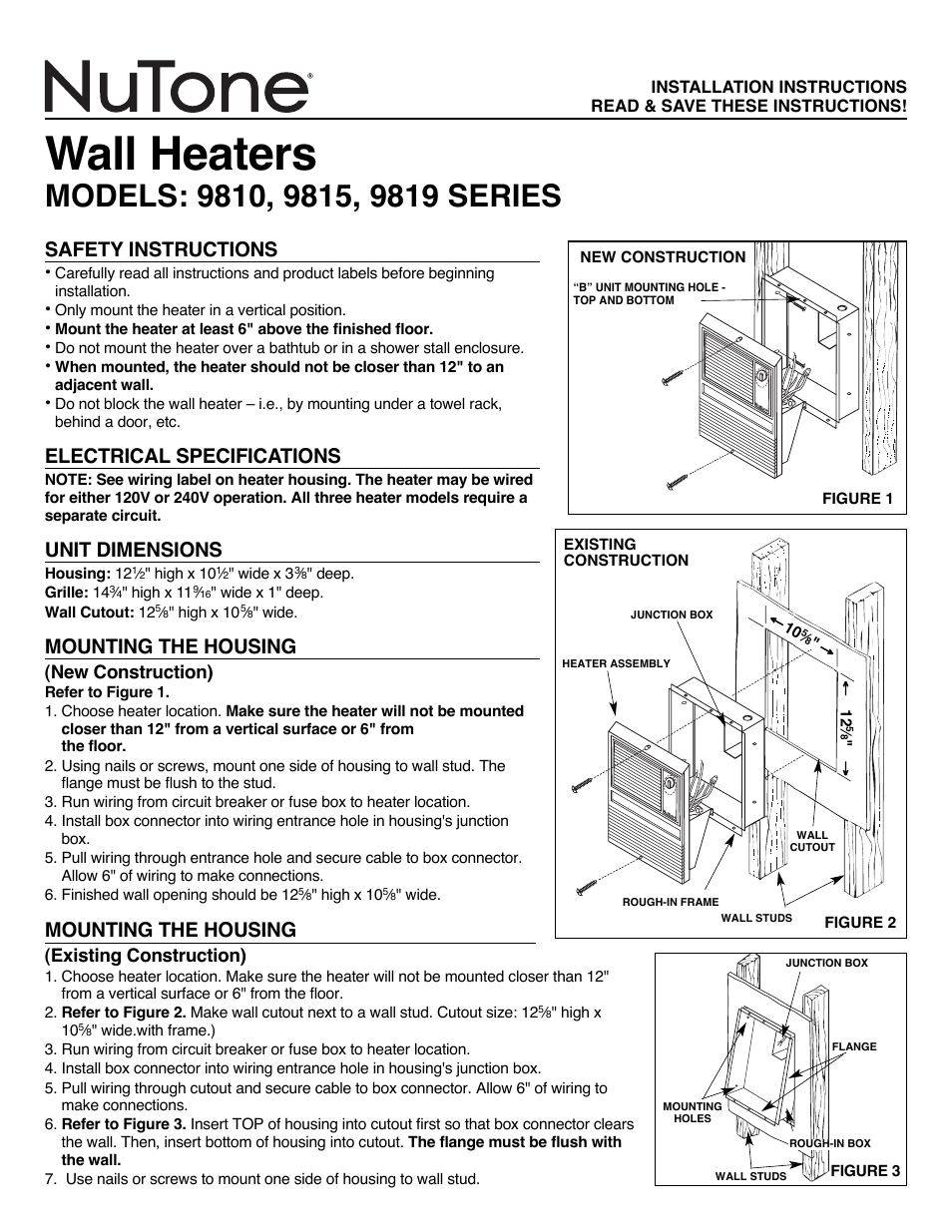Nutone Wall Heater Wiring Diagram 1550 Schematic Diagrams House Symbols U2022 Baseboard Thermostat