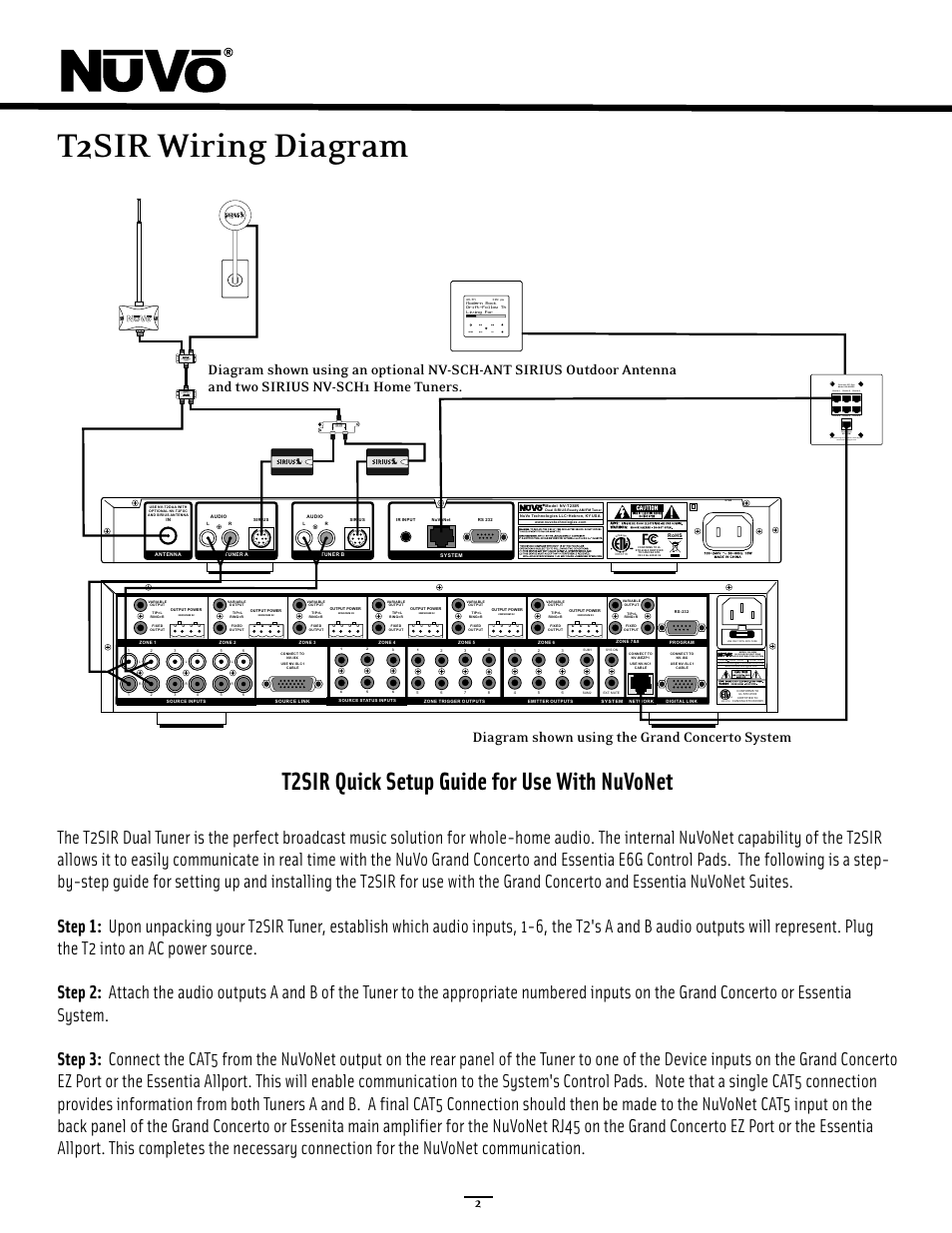 Wiring Diagram Quick Setup T2sir Whole House Audio Together With For Guide Use Nuvonet Nuvo Nv User Manual Page 7 30