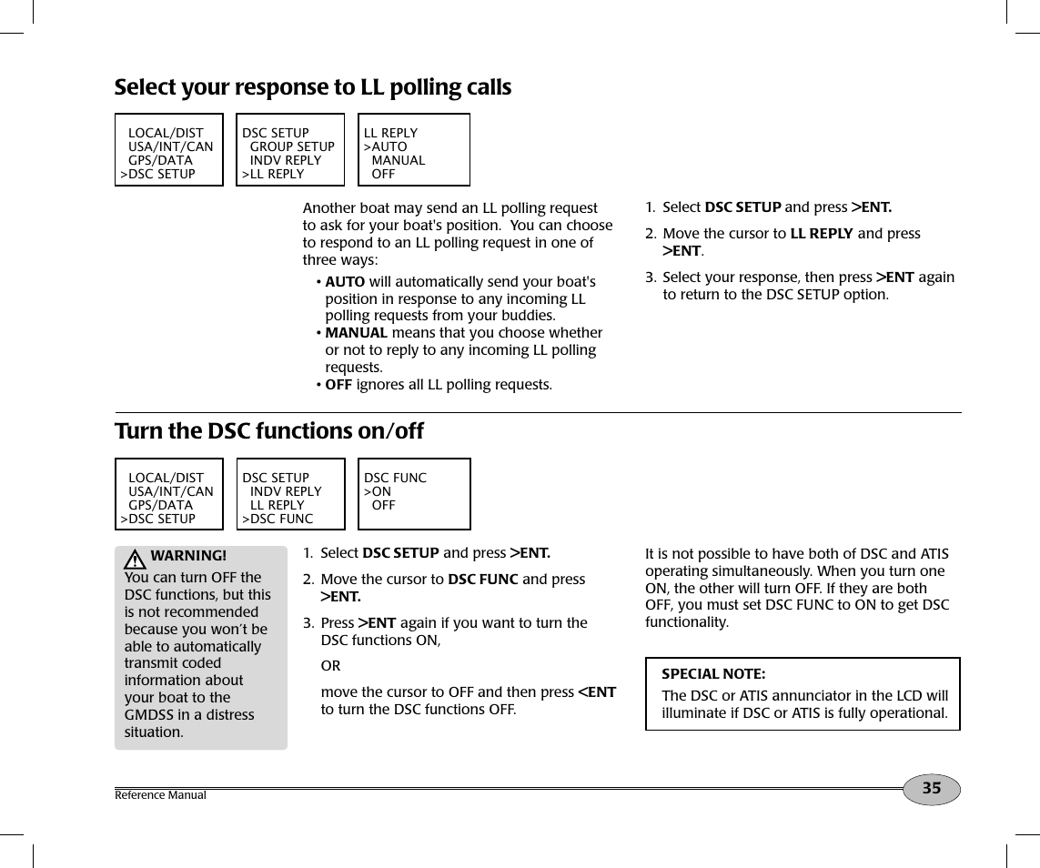 select your response to ll polling calls turn the dsc functions on rh manualsdir com North Star NS100SS VHF Handset North Star 8000I Parts