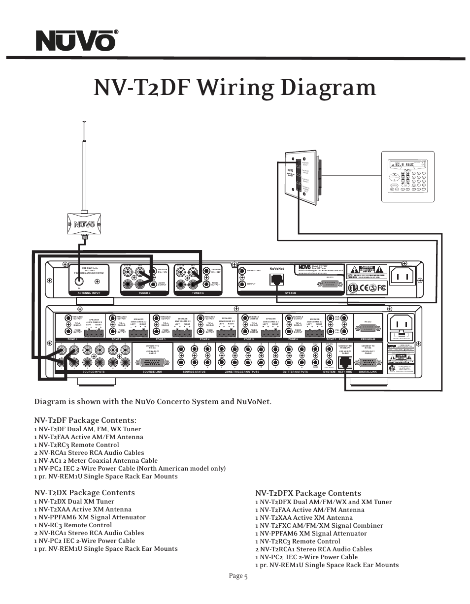 nv t2df wiring diagram nv t2dx package contents nv t2dfx package rh manualsdir com  nuvo concerto wiring diagram