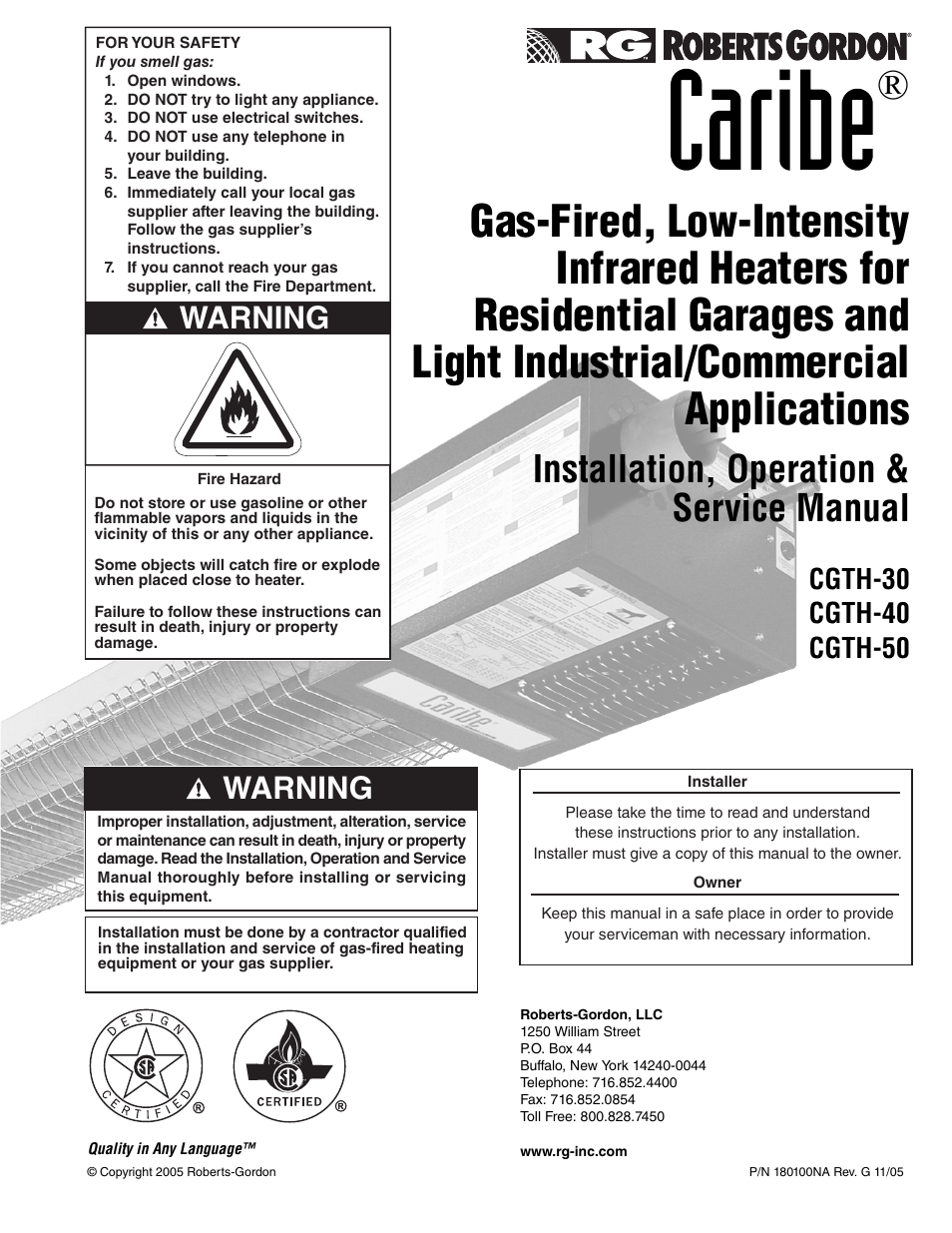 roberts gorden caribe cgth 50 user manual 58 pages also for rh manualsdir com O-Ring Installation Guide Quick Installation Guide