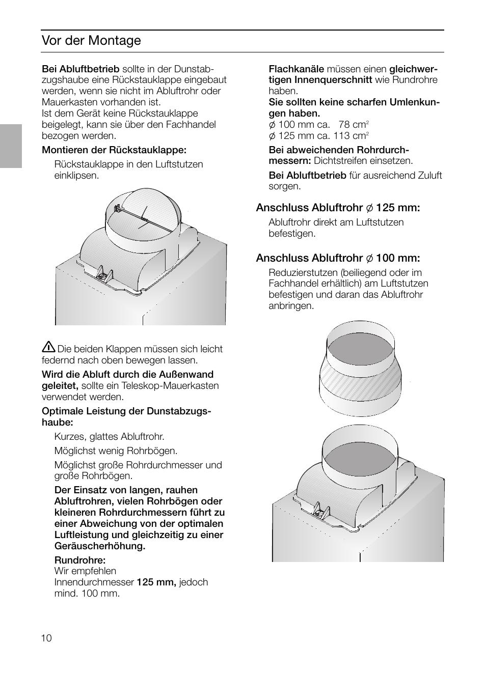 vor der montage | siemens lc 46492 user manual | page 10 / 80