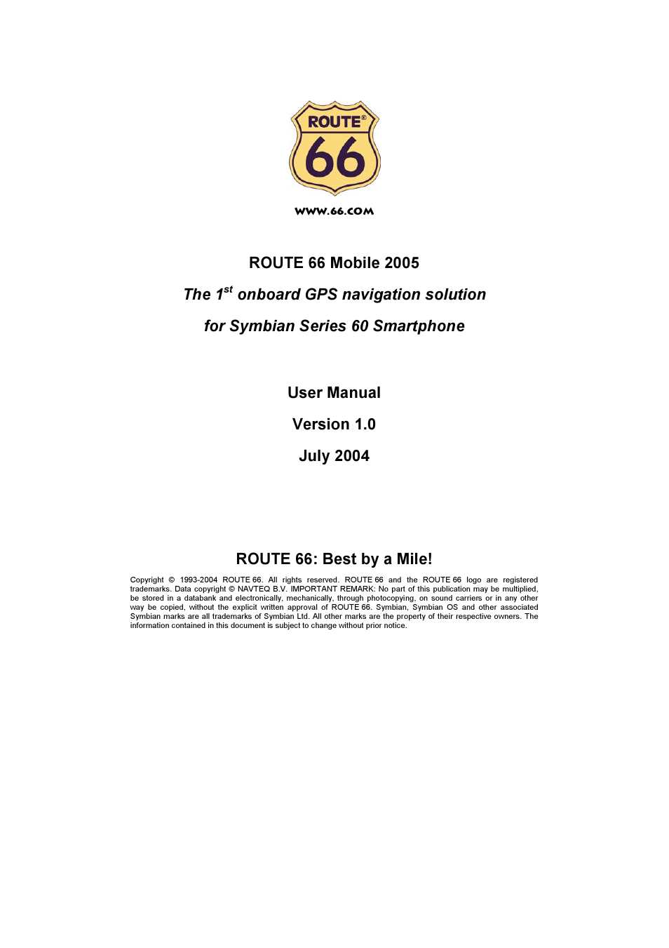 route 66 mobile 2005 user manual 23 pages rh manualsdir com Historic Route 66 Driving Route 66