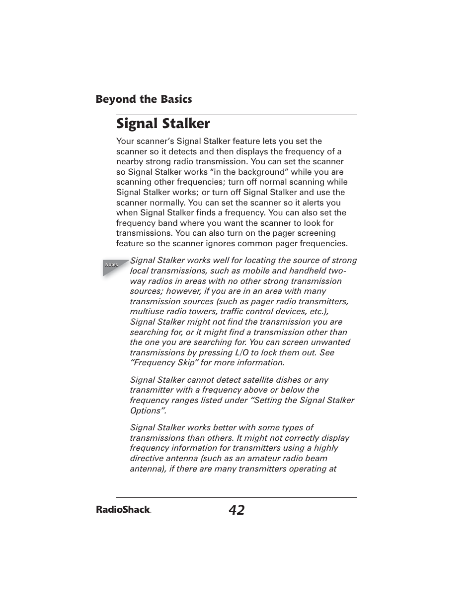 signal stalker radio shack pro 2051 user manual page 42 84 rh manualsdir com Radio Shack Scanners Radio Shack Scanner Antenna
