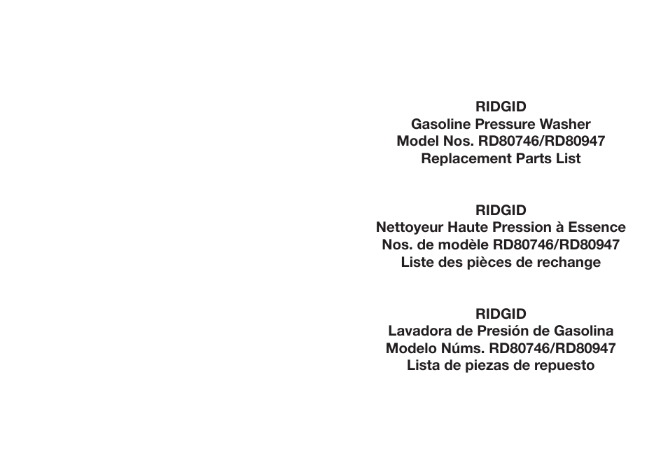 Ridgid Rd80746 User Manual 5 Pages Also For Rd80947