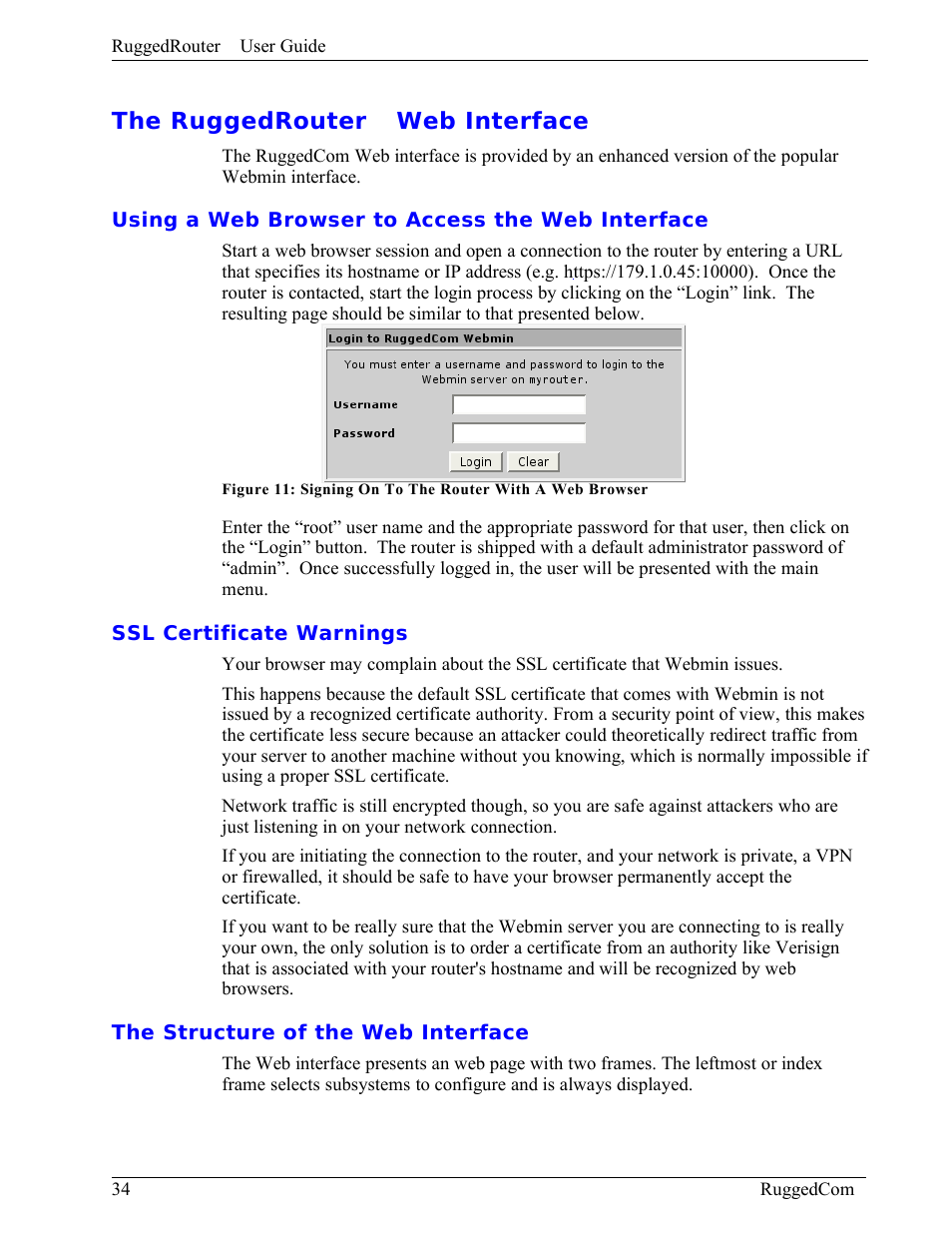 The Ruggedrouter Web Interface Using A Web Browser To Access The