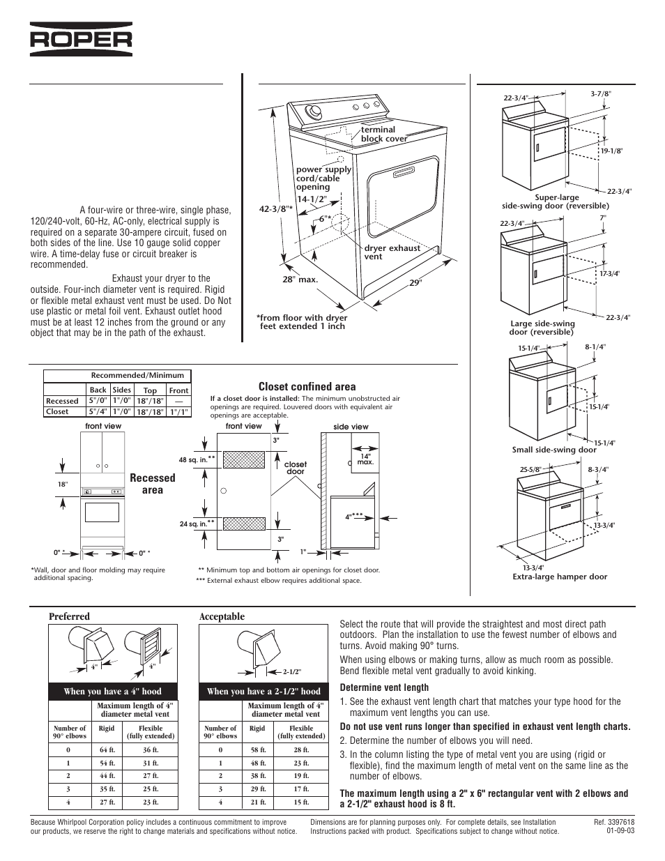 Roper Electric Dryer Rex4625e User Manual 1 Page Also For Wiring Diagram A Res7648j Rex5634k Rex5635e