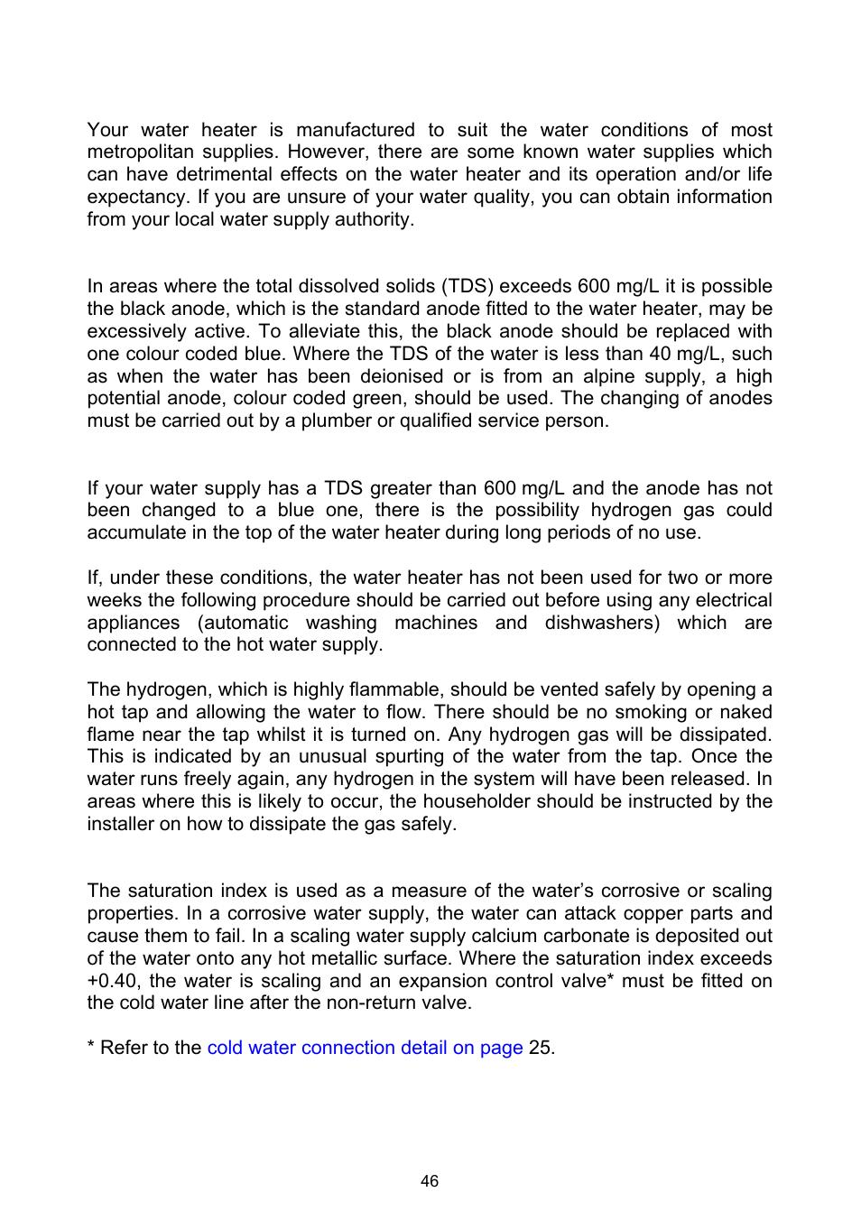 Water supplies, Anode, Caution | Rheem Gas Heavy Duty Water Heater ...