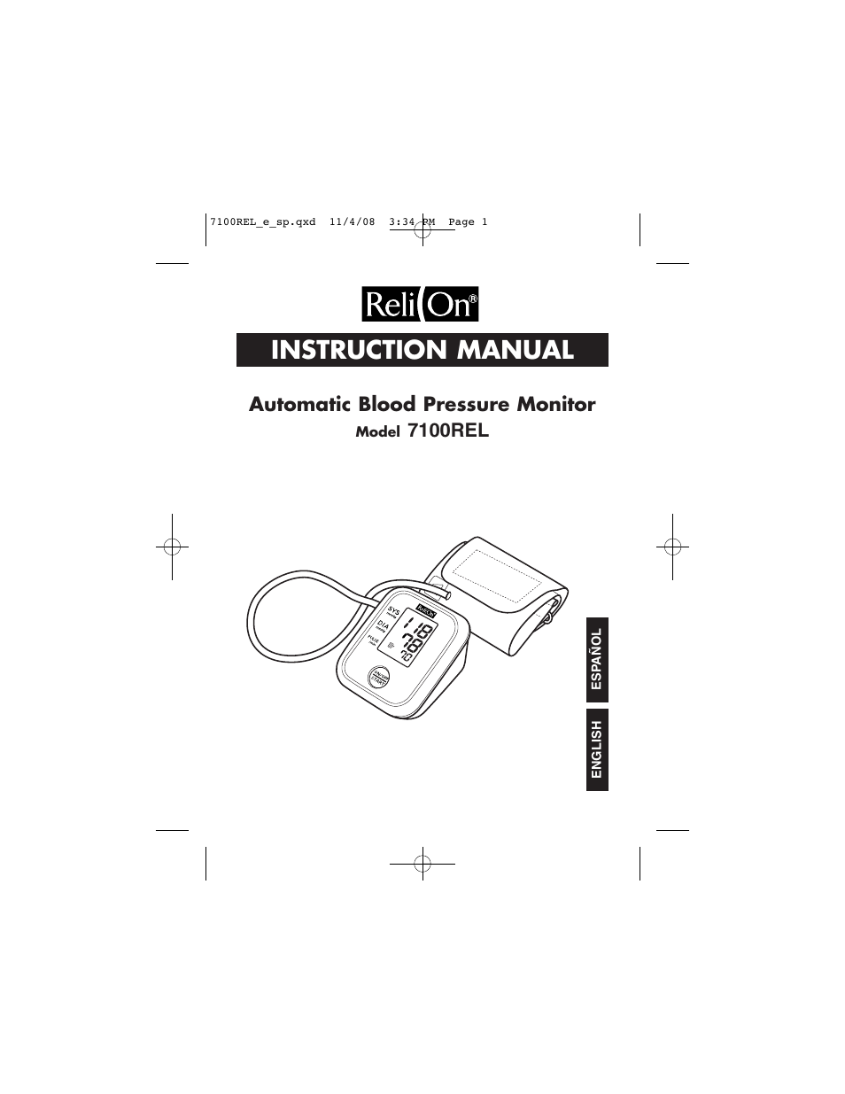 Relion 7100rel User Manual 52 Pages