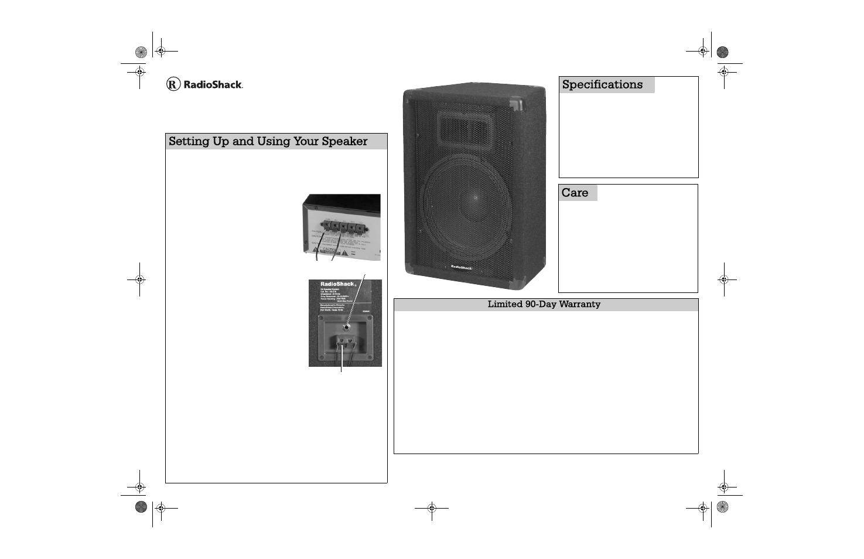 Radio Shack 40-210 User Manual | 1 page