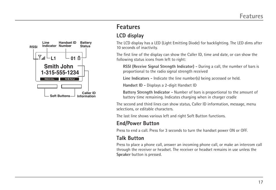 features lcd display end power button rca visys h5450 user rh manualsdir com rca visys 25424re1 user manual rca telephone manual visys