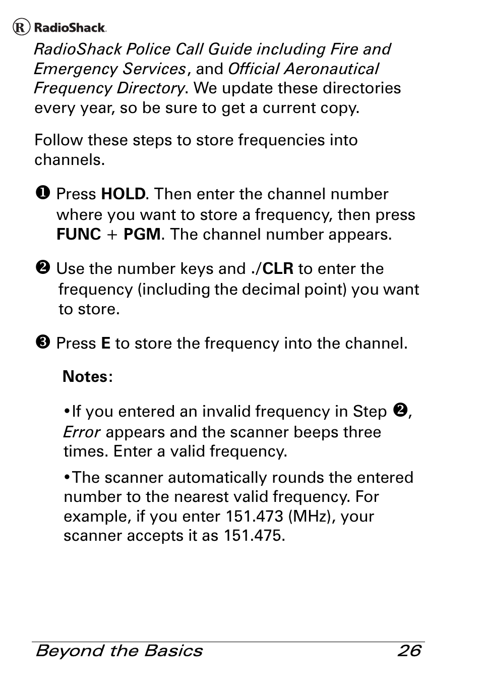 Radio Shack Pro 84 User Manual   Page 26 / 64