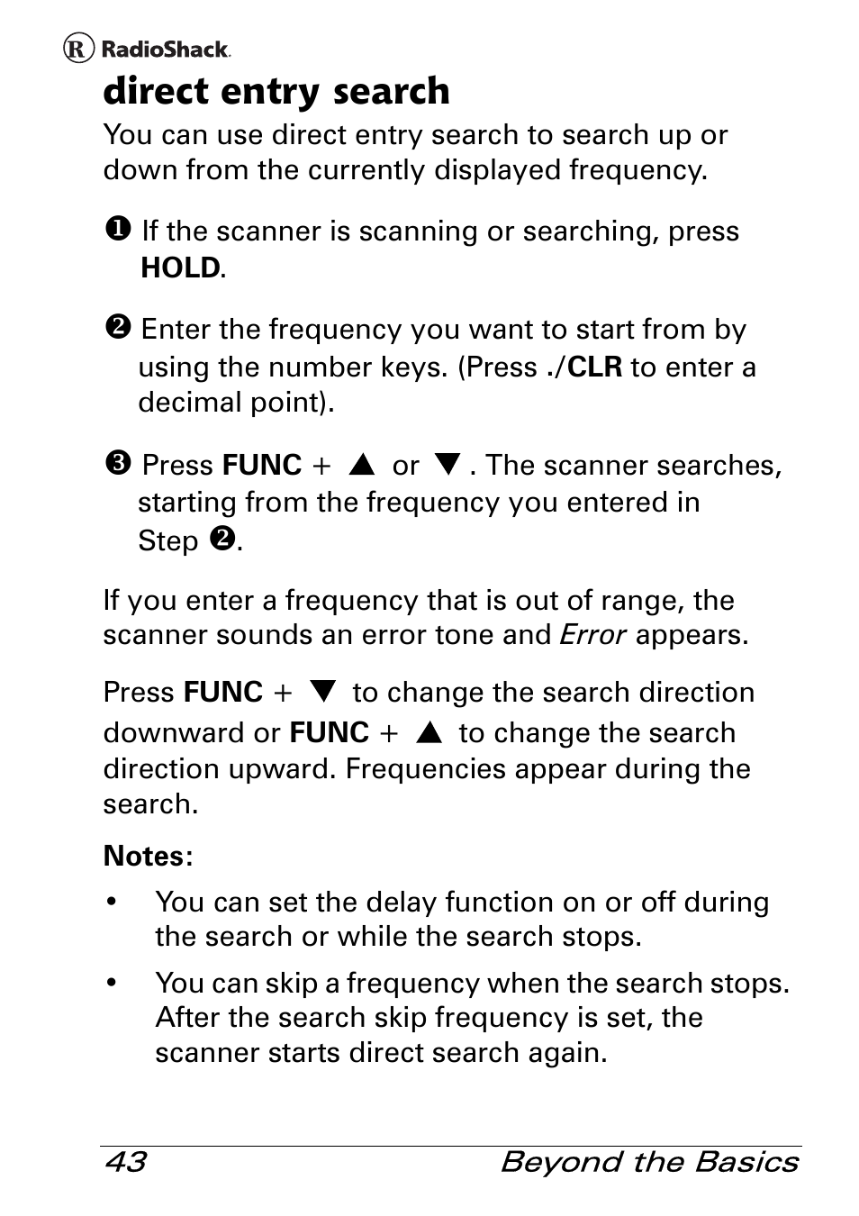 WRG-4272] Radio Shack Pro 83 Scanner Manual