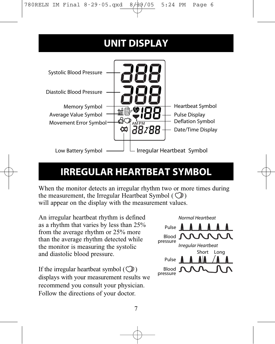 relion blood pressure monitor manual