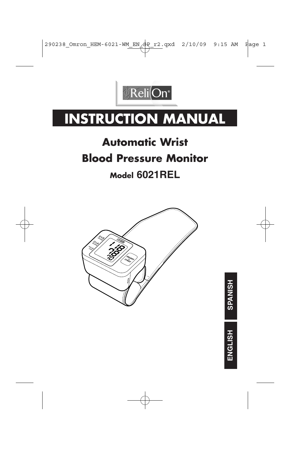 Relion 6021rel User Manual 44 Pages