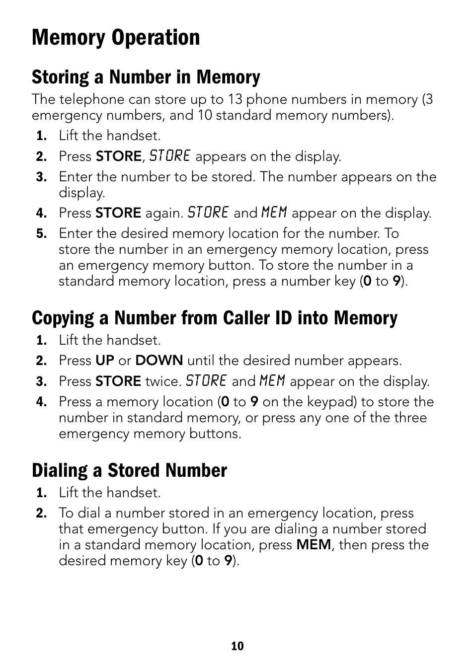 dialing a stored number radio shack 43 3901 user manual page 10 16 rh manualsdir com