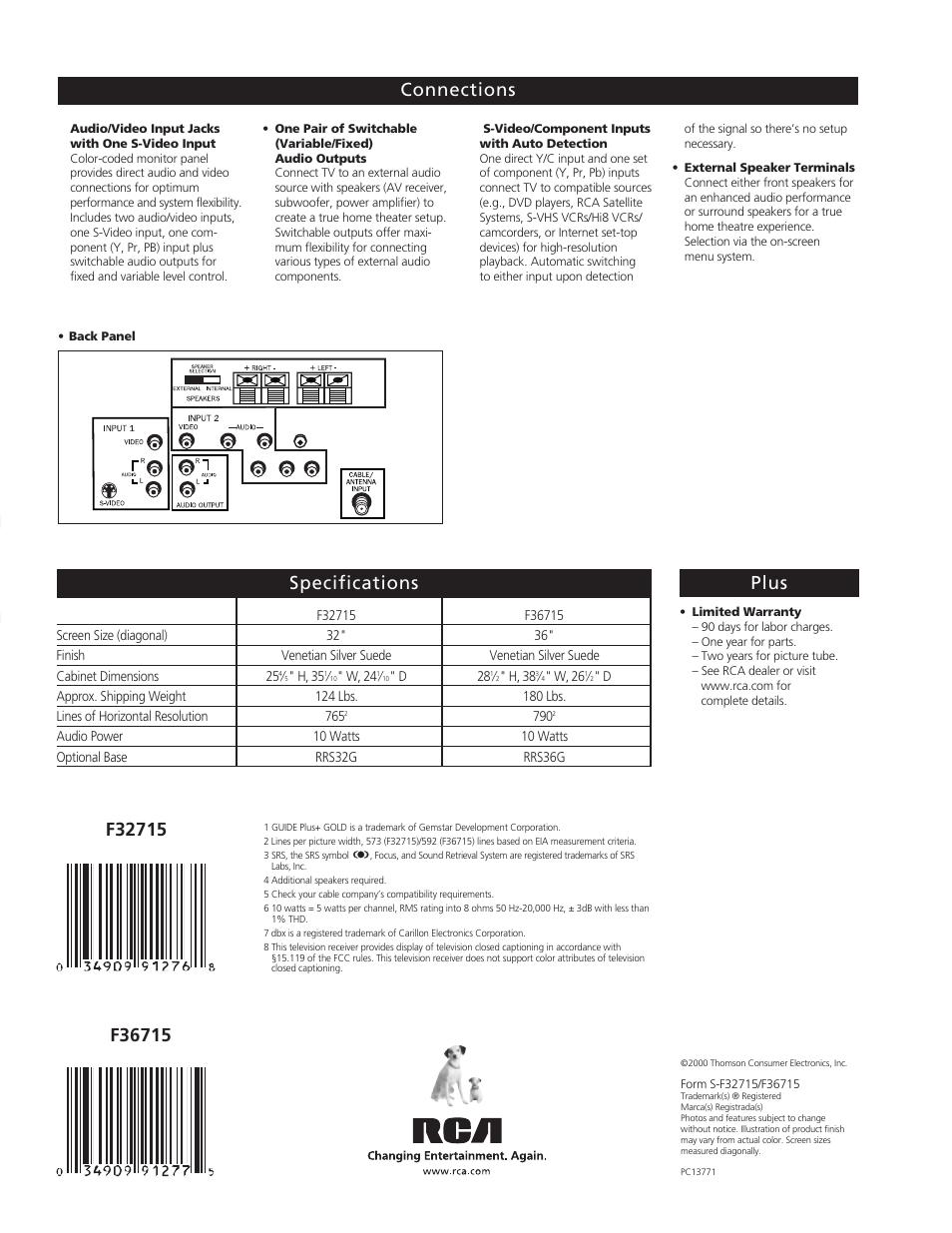 te levi s io n rca home theatre premiere f36715 user manual page rh manualsdir com RCA Home Theater System Manual RCA Home Theater Receiver Manual