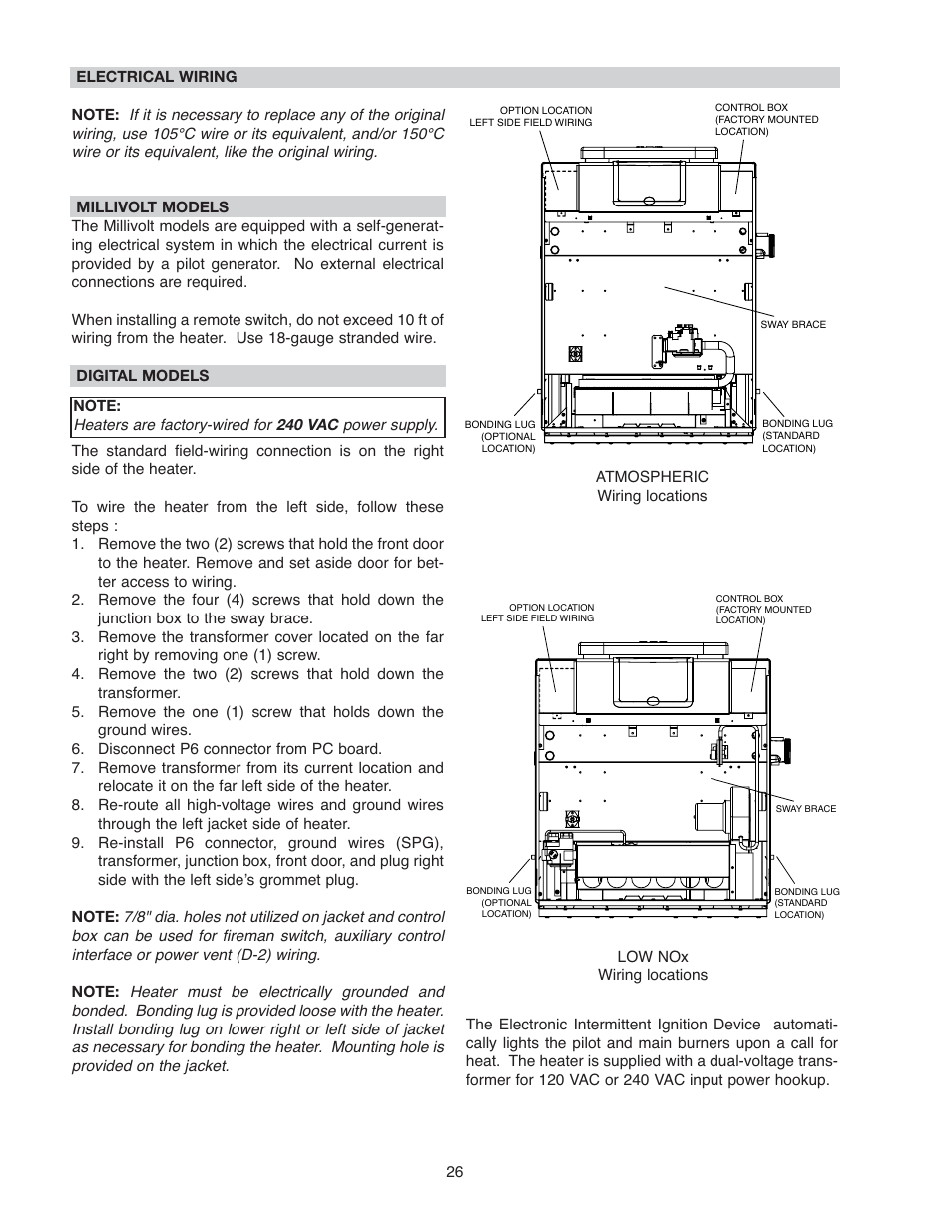 Raypak 266a User Manual Page 26 55 Also For 406a Electrical Wiring Jacket