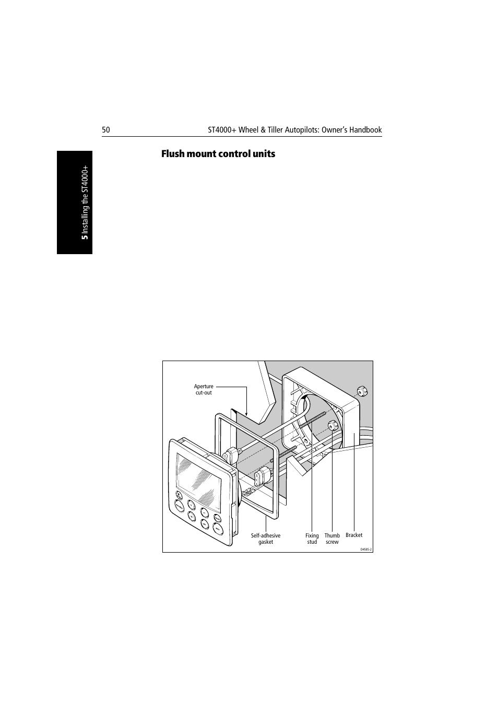 flush mount control units raymarine autopilot st4000 user rh manualsdir com raymarine st 4000 plus manual Raymarine Electronics