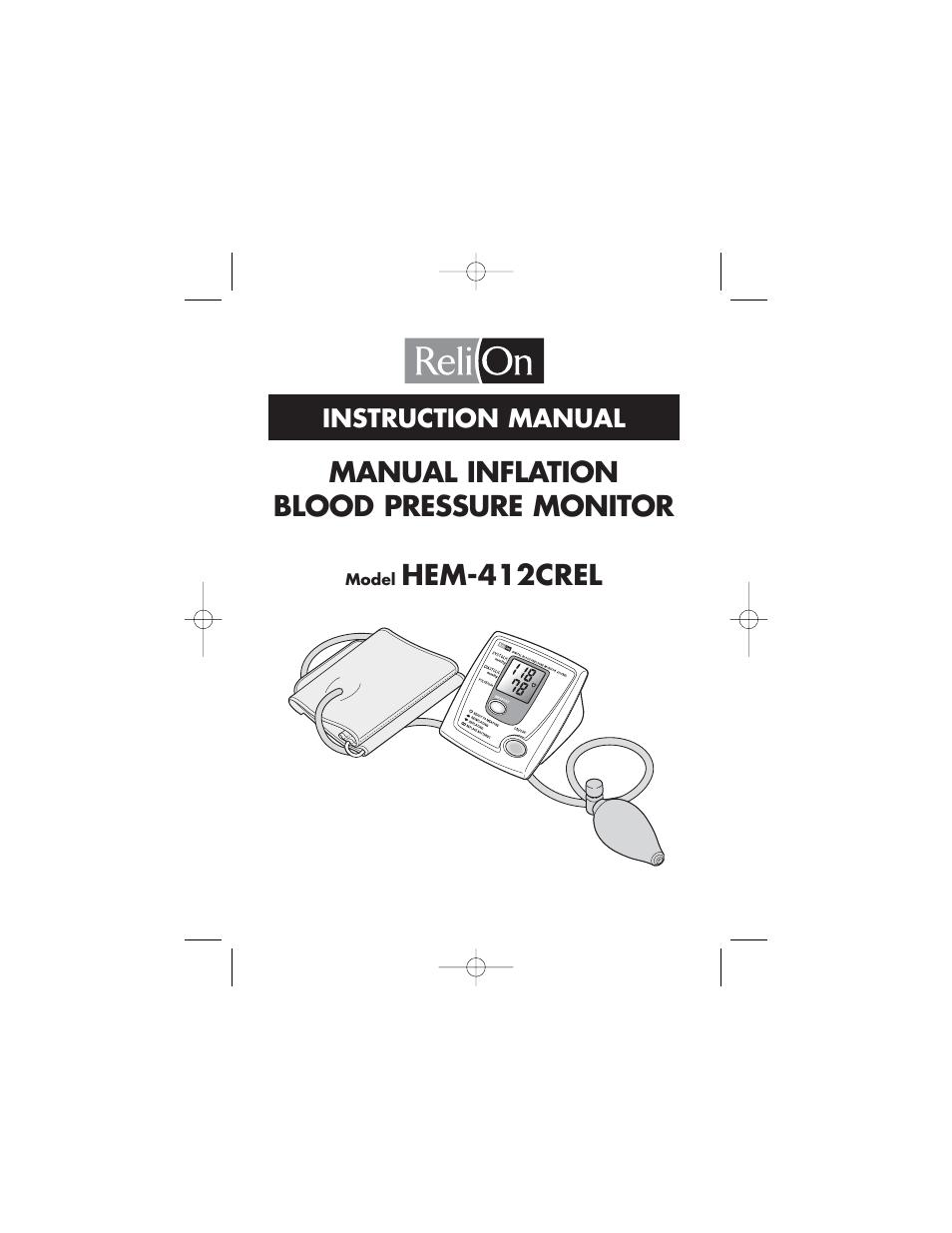 Relion Hem 412crel User Manual 24 Pages