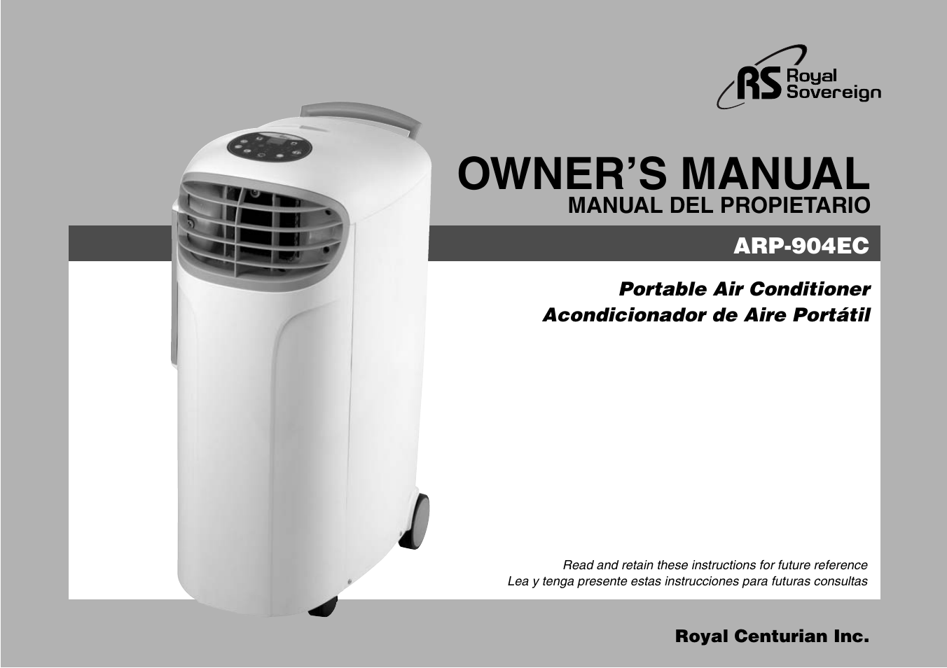 royal sovereign air conditioner manual
