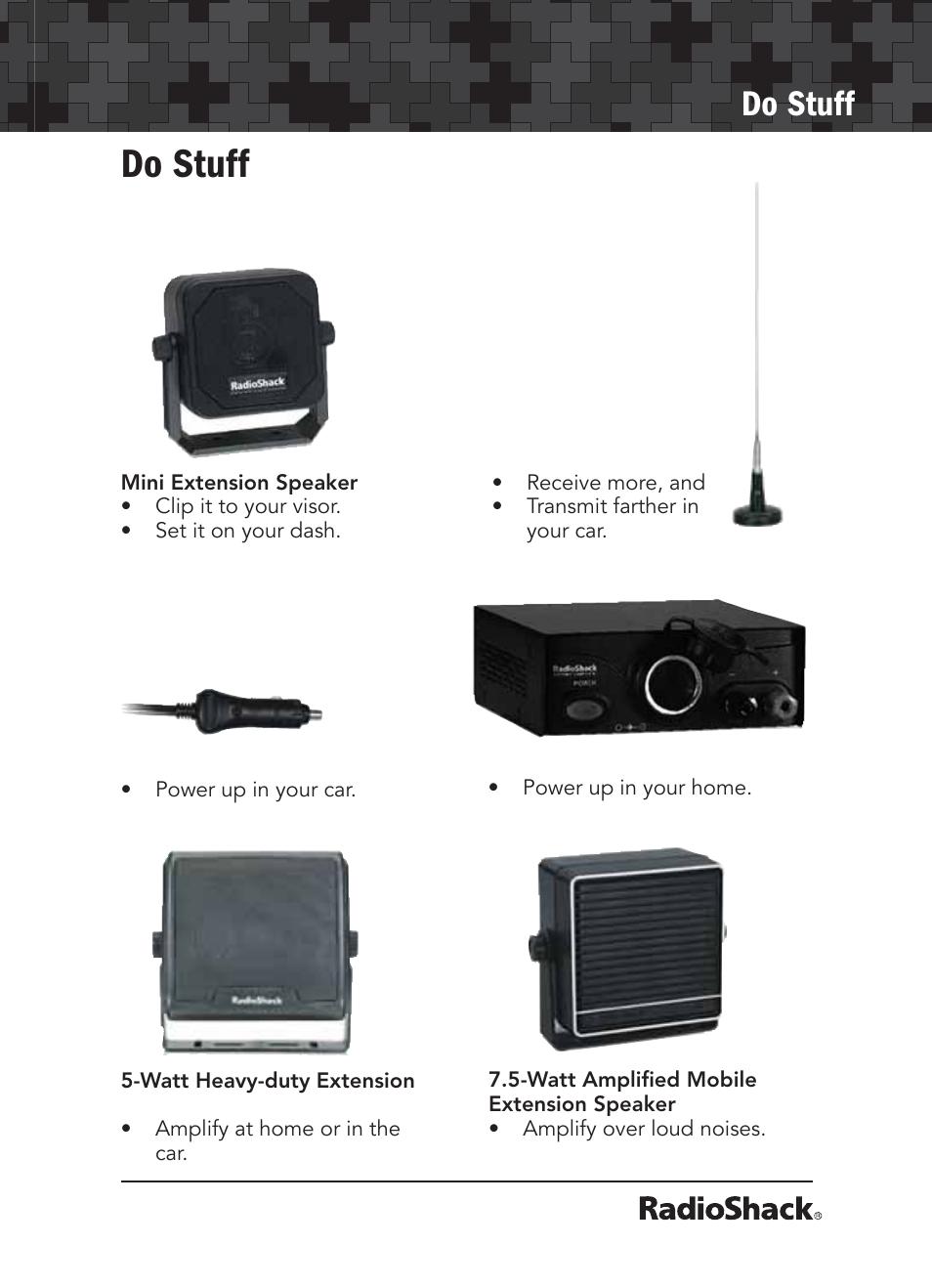 do stuff radio shack 21 1679 user manual page 19 20 rh manualsdir com Radio Shack Closing Radio Shack Products