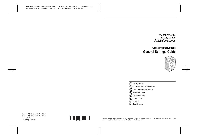 general settings guide operating instructions ricoh aficio dsm616 rh manualsdir com Kindle Fire User Guide Clip Art User Guide