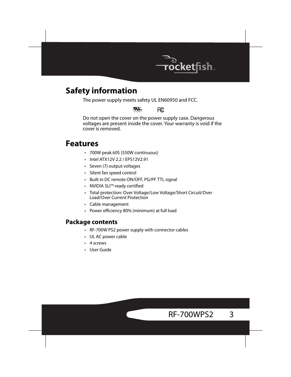 safety information features package contents rocketfish rf rh manualsdir com Rocketfish Wireless Speakers for TV Rocketfish Wireless Speakers for TV