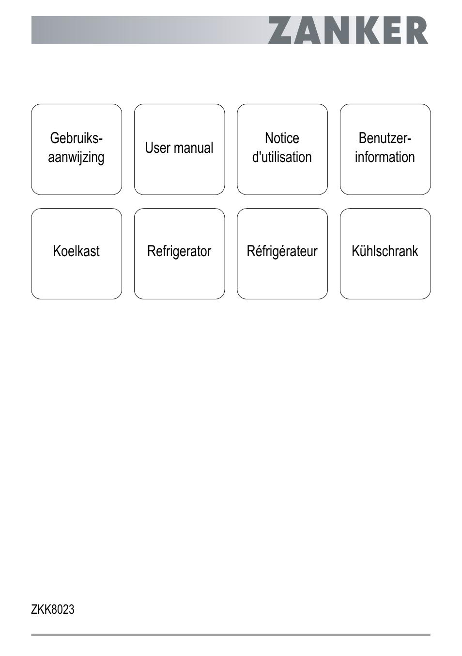 ZANKER ZKK 8023 User Manual | 44 pages