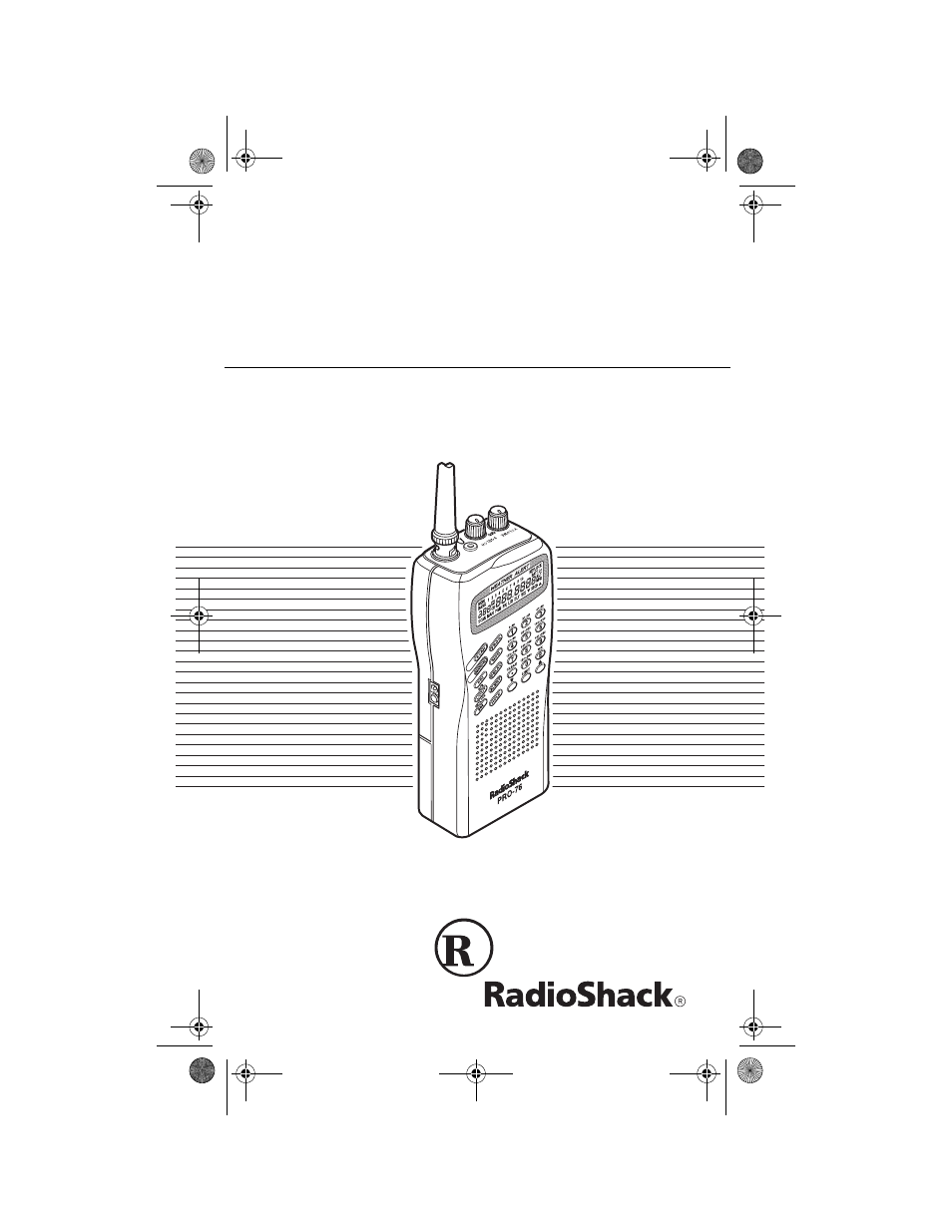 radio shack pro 76 user manual 48 pages rh manualsdir com Radio Shack Race Scanner Radio Shack Pro 205
