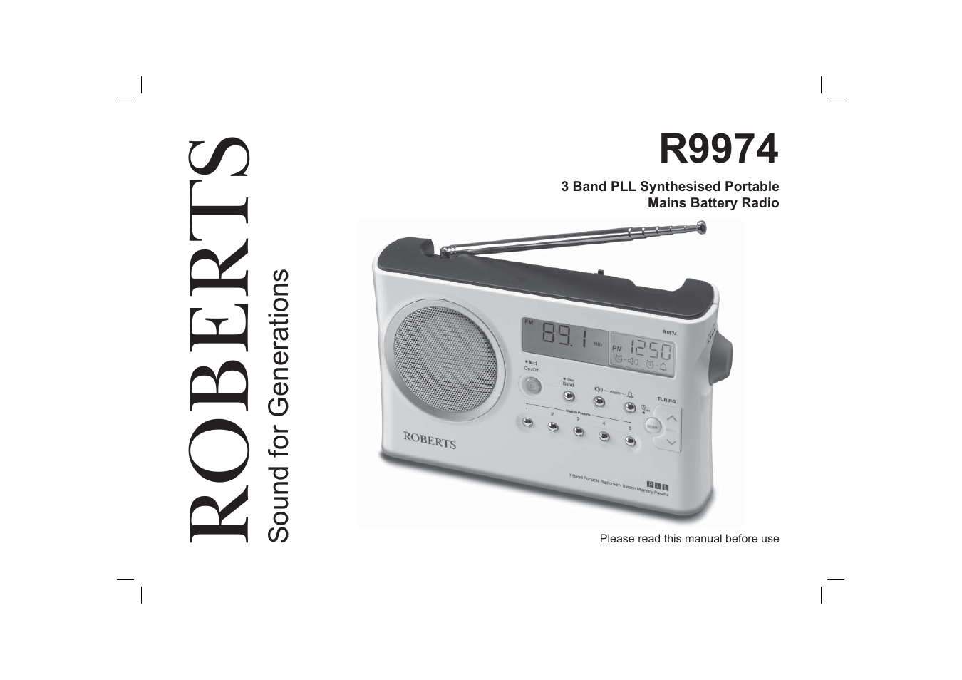 roberts radio r9974 user manual 20 pages rh manualsdir com Moderno Radio Manual Cobra CB Radio Manual