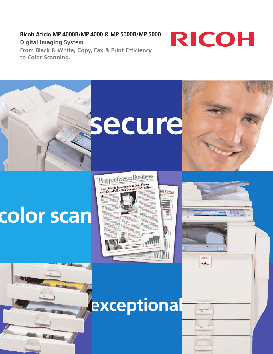 Ricoh Aficio MP 5000 User Manual | 8 pages | Also for: Aficio MP 5000B, Aficio  MP 4000, Aficio MP 4000B