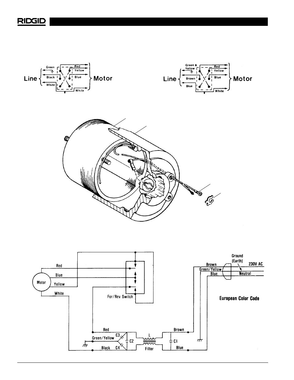 installation of brush lead wires wiring schematic 230v with rh manualsdir com Atwood Water Heater Wiring Diagrams Single Switch Atwood Water Heater Wiring Diagrams Single Switch