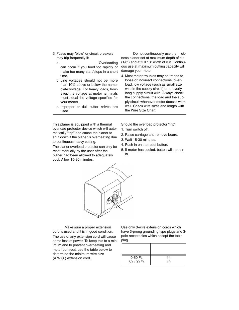 thermal overload protector wire sizes ridgid tp1300 user manual rh manualsdir com