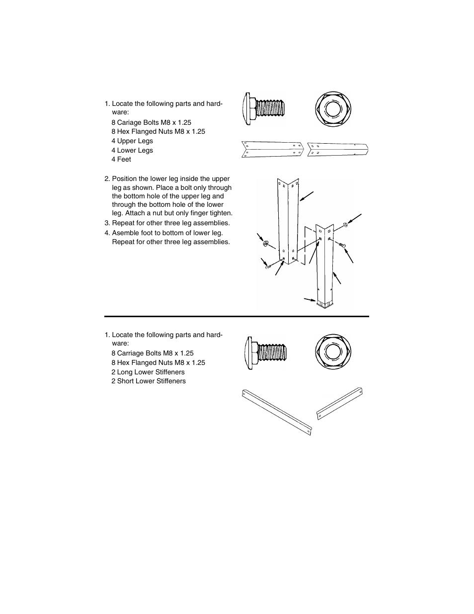 assembling upper and lower legs assembling lower stiffeners rh manualsdir com