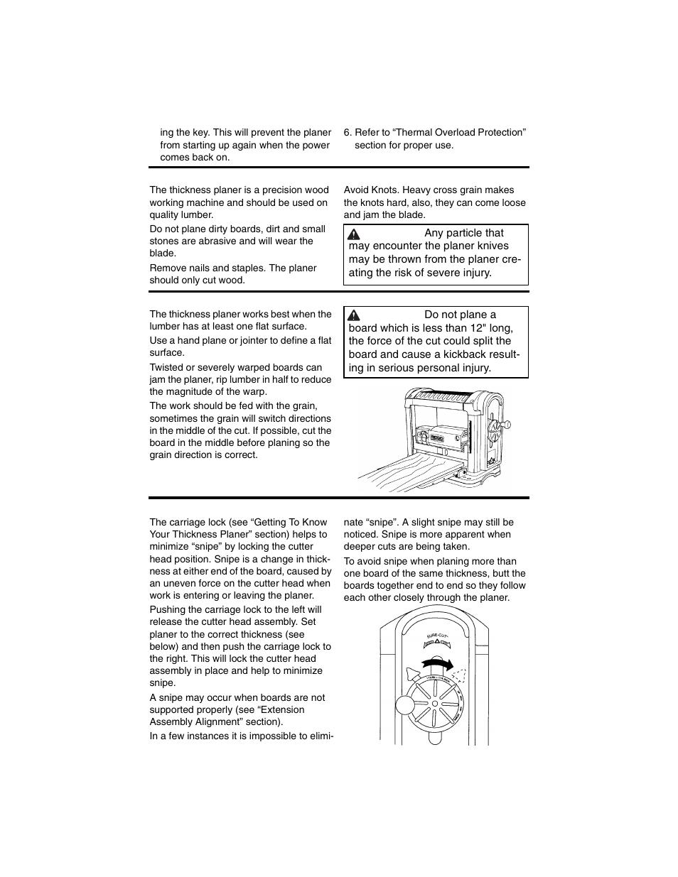 reduce damage to knives preparing the work carriage lock ridgid rh manualsdir com