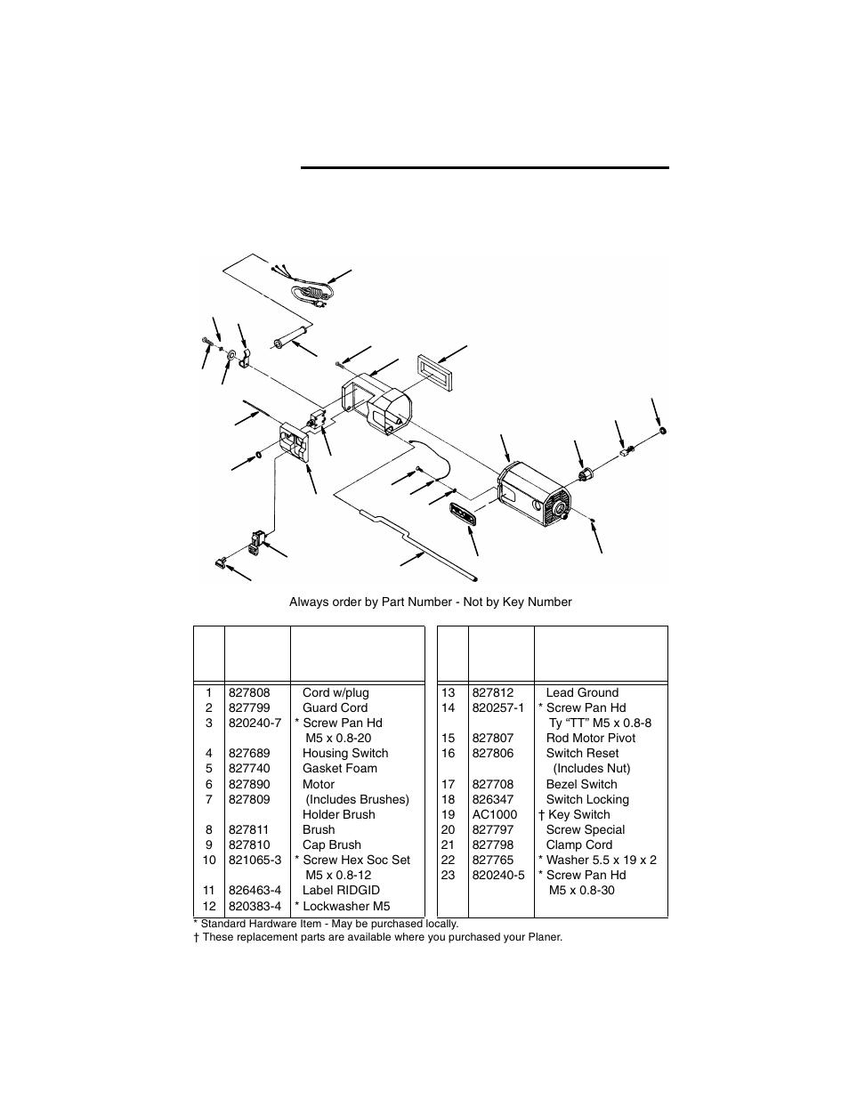 repair parts ridgid tp1300 user manual page 32 36 original mode rh manualsdir com