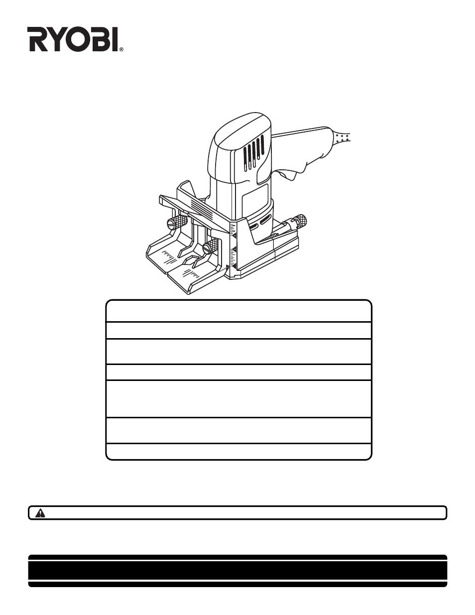 ryobi dbj50 user manual 22 pages rh manualsdir com Ryobi P2006 Owner's Manual Ryobi Parts