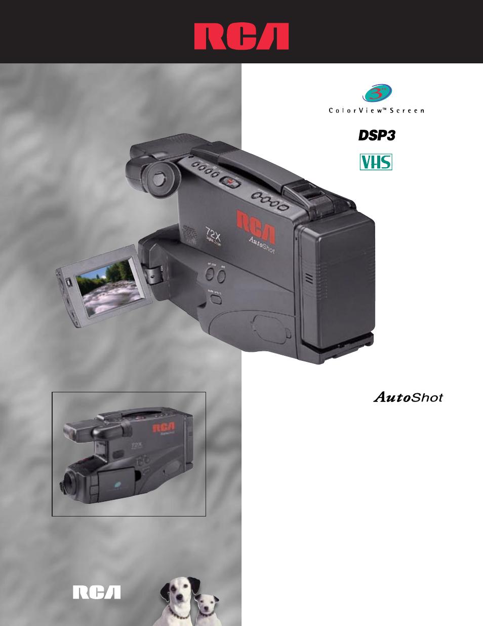 rca cc4352 user manual 2 pages rh manualsdir com RCA Small Wonder Digital Camcorder RCA Camcorder VHS Case