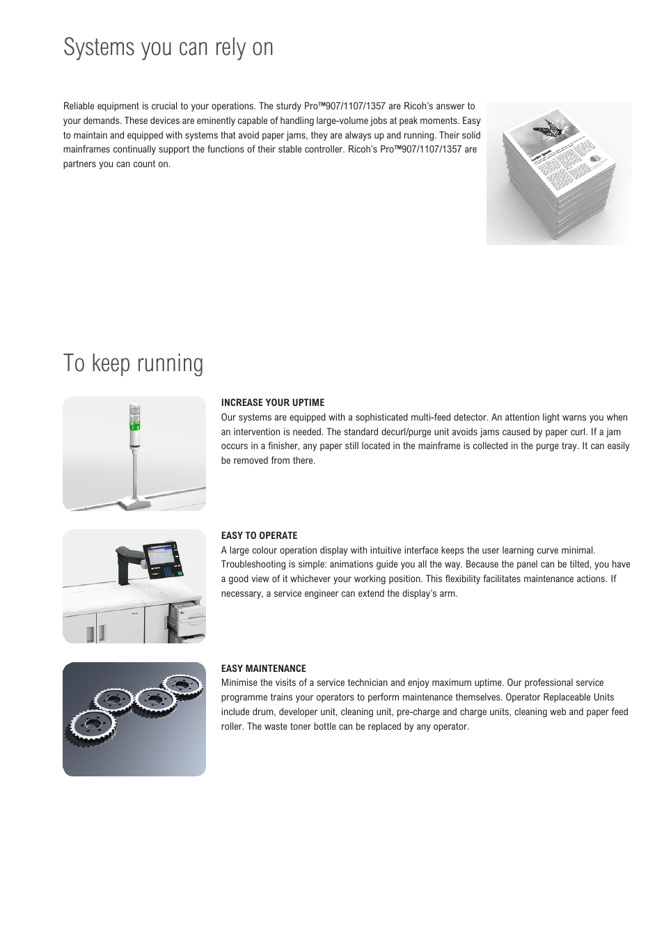 Systems you can rely on | Ricoh 907 User Manual | Page 5 / 12