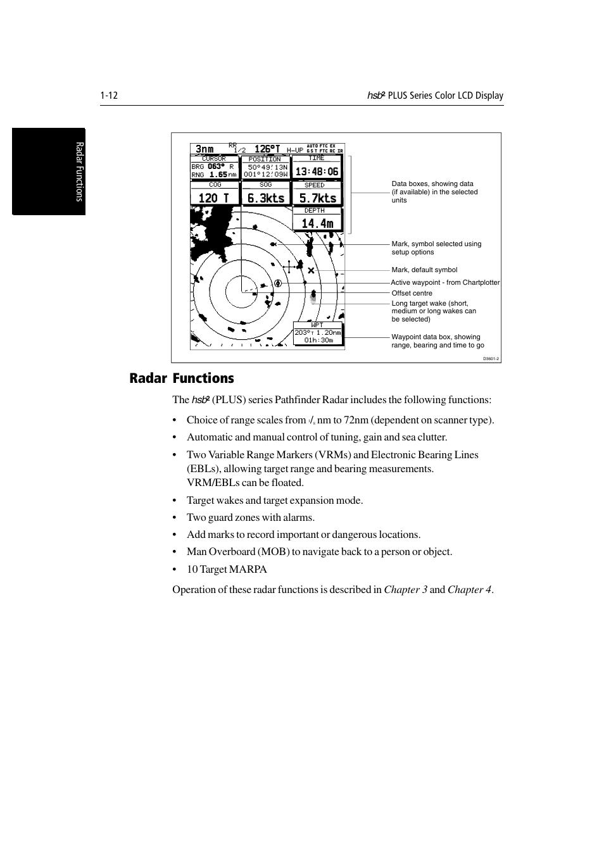 radar functions 120 t raymarine radar equipment raychart rh manualsdir com