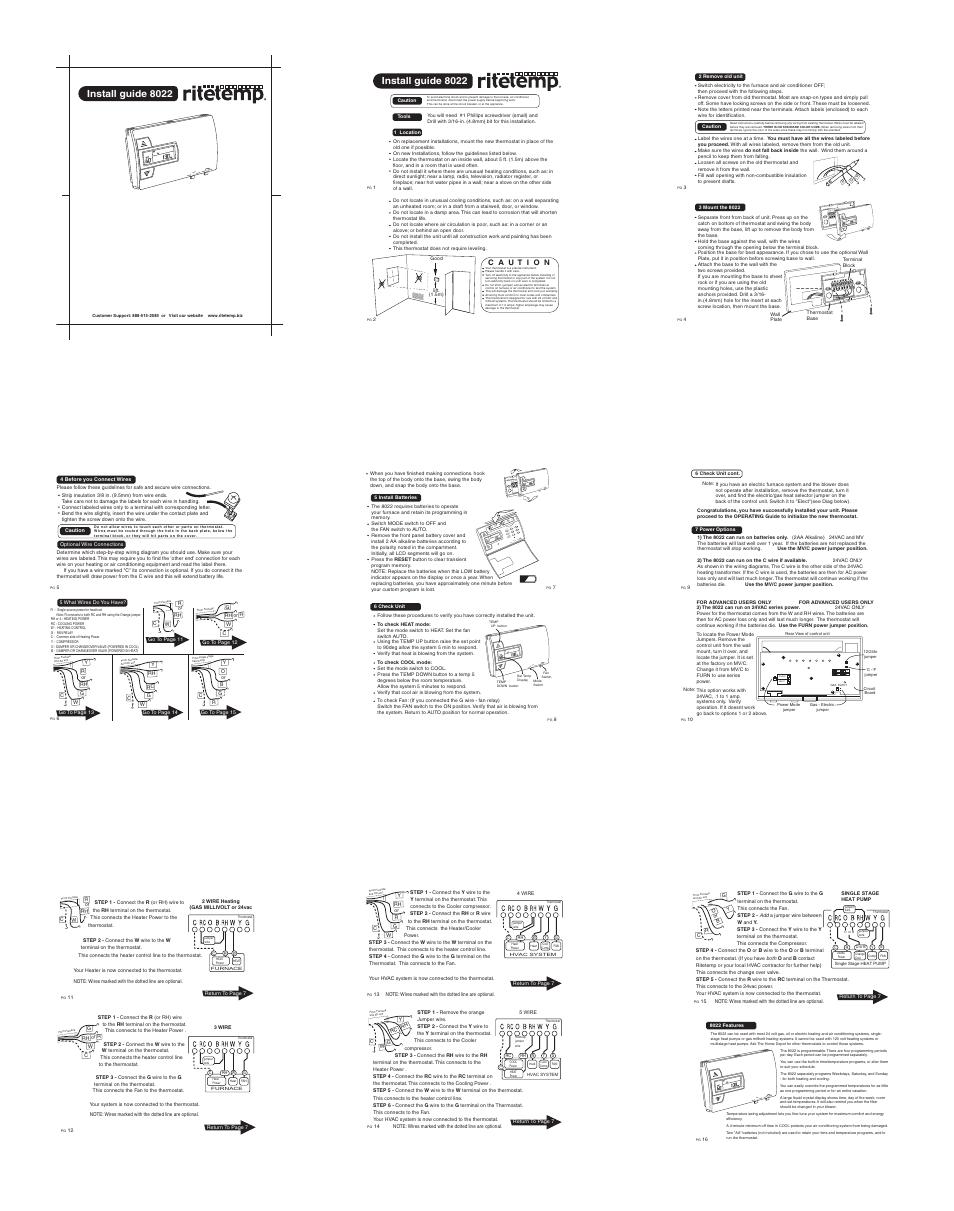 Ritetemp 8022 User Manual