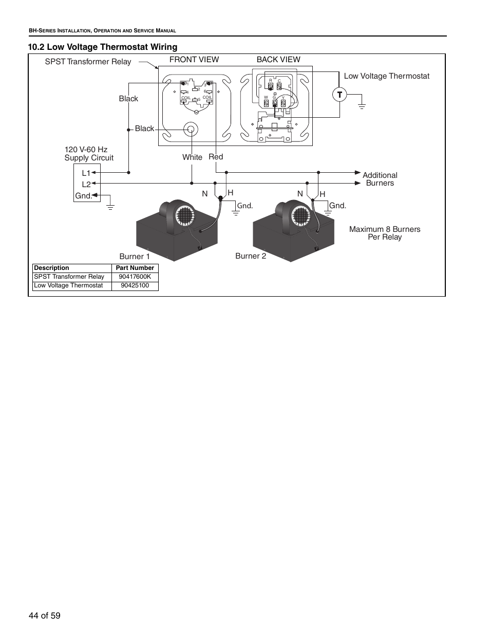 2 Low Voltage Thermostat Wiring 44 Section 102 He Roberts A Transformer Gorden Gordonray Bh 40 User Manual Page 50 70