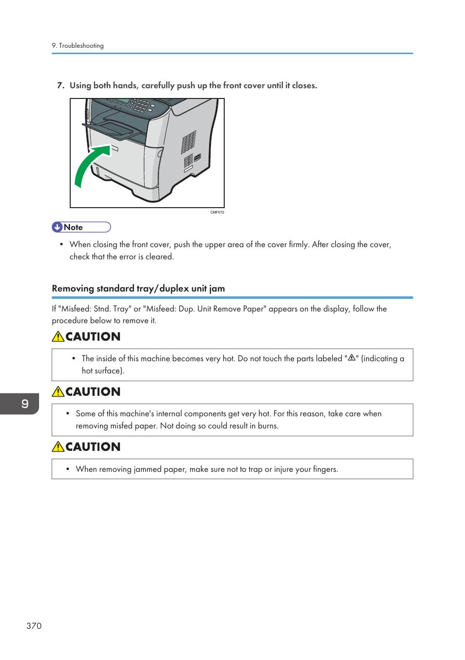 Removing standard tray/duplex unit jam | Ricoh SP3510SF User Manual