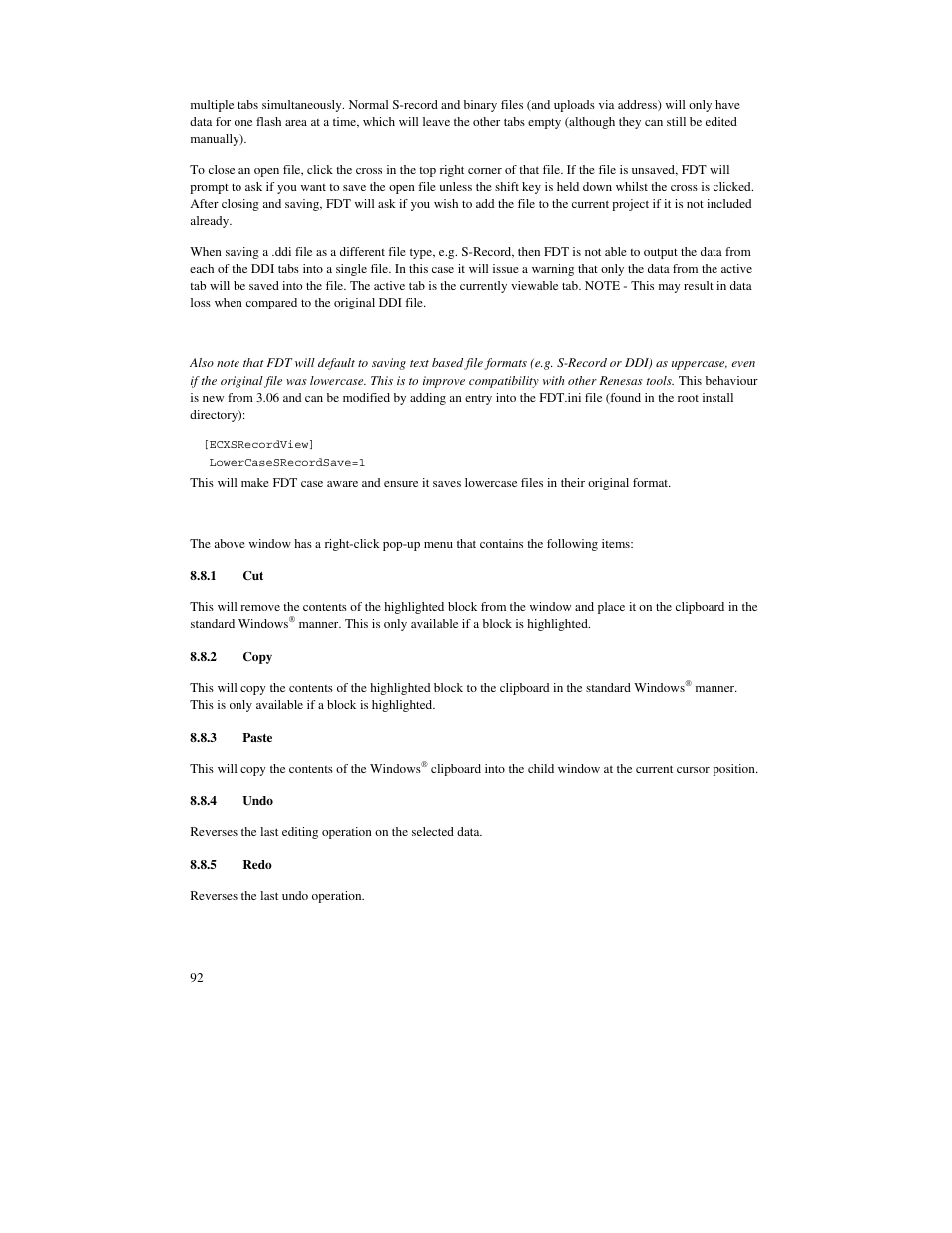 1 cut, 2 copy, 3 paste | Renesas FLASH Development Toolkit 3.07 User Manual  | Page 106 / 146