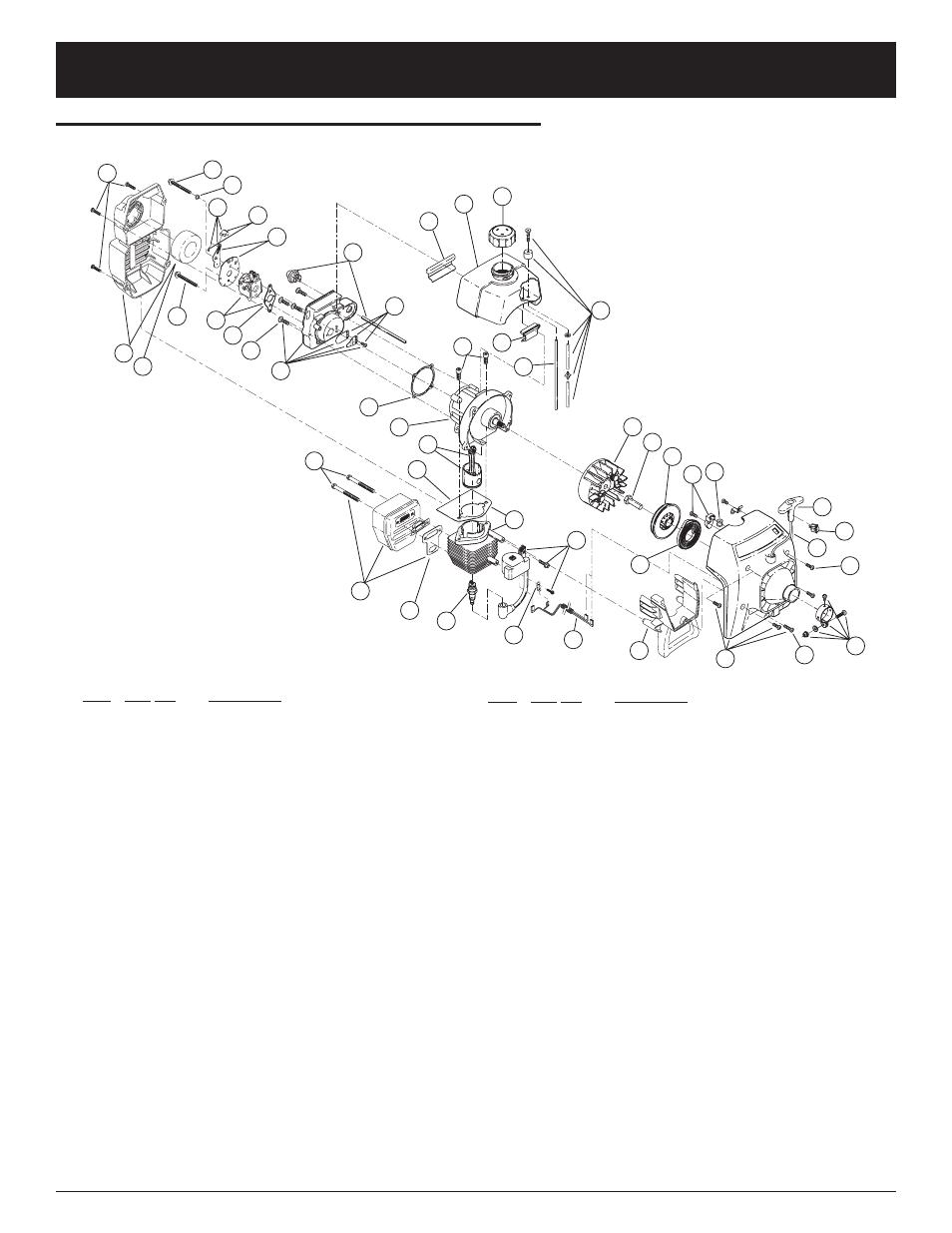 Parts list, engine parts ryobi 700r 2-cycle gas trimmer | ryobi.