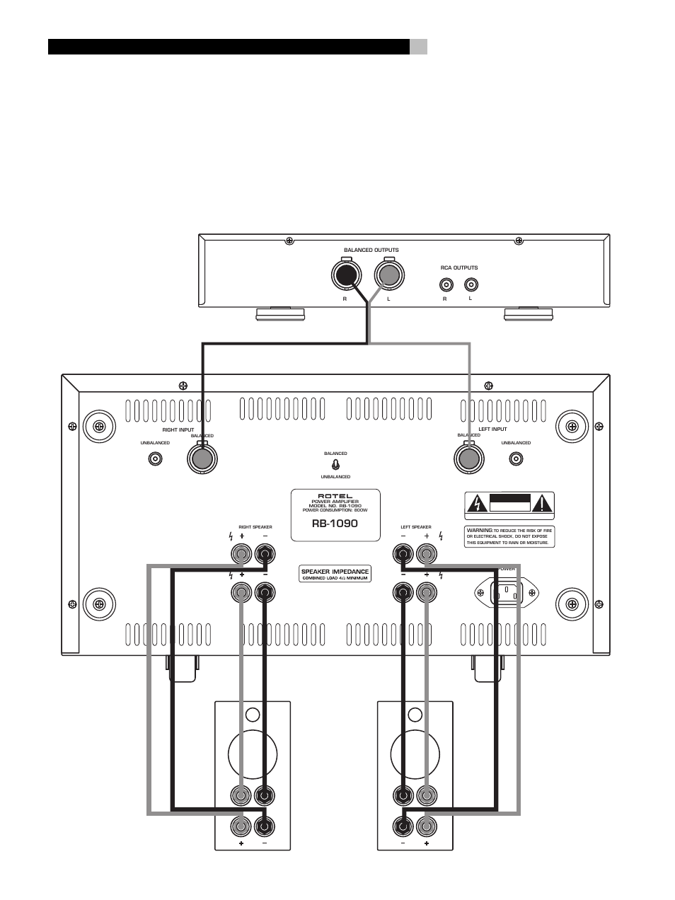 Rb 1090 Rotel Rb1090 User Manual Page 4 36 Bi Wiring Speakers