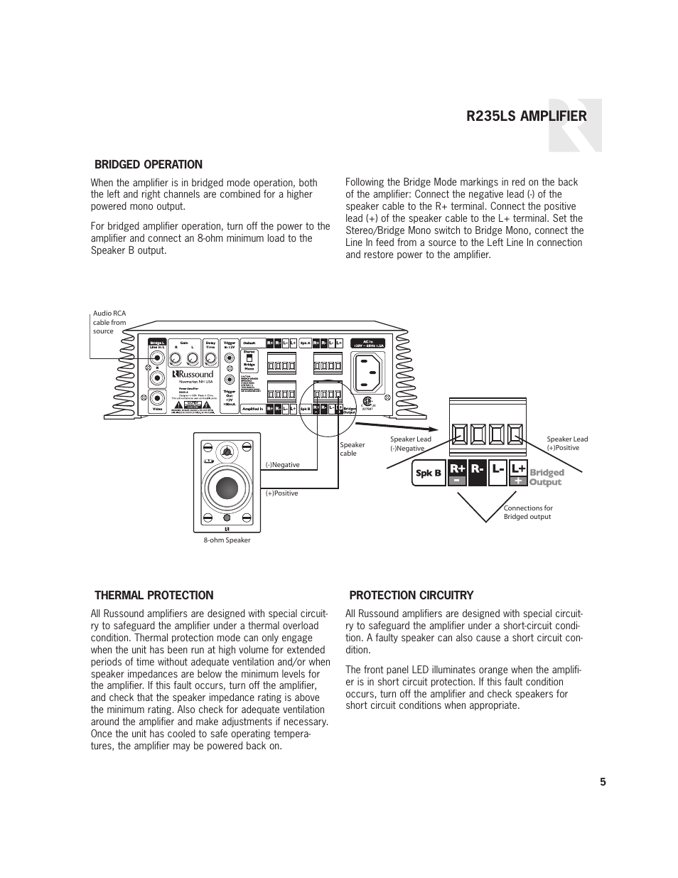 R235ls Amplifier Russound User Manual Page 5 8 A Short Circuit Occurs When