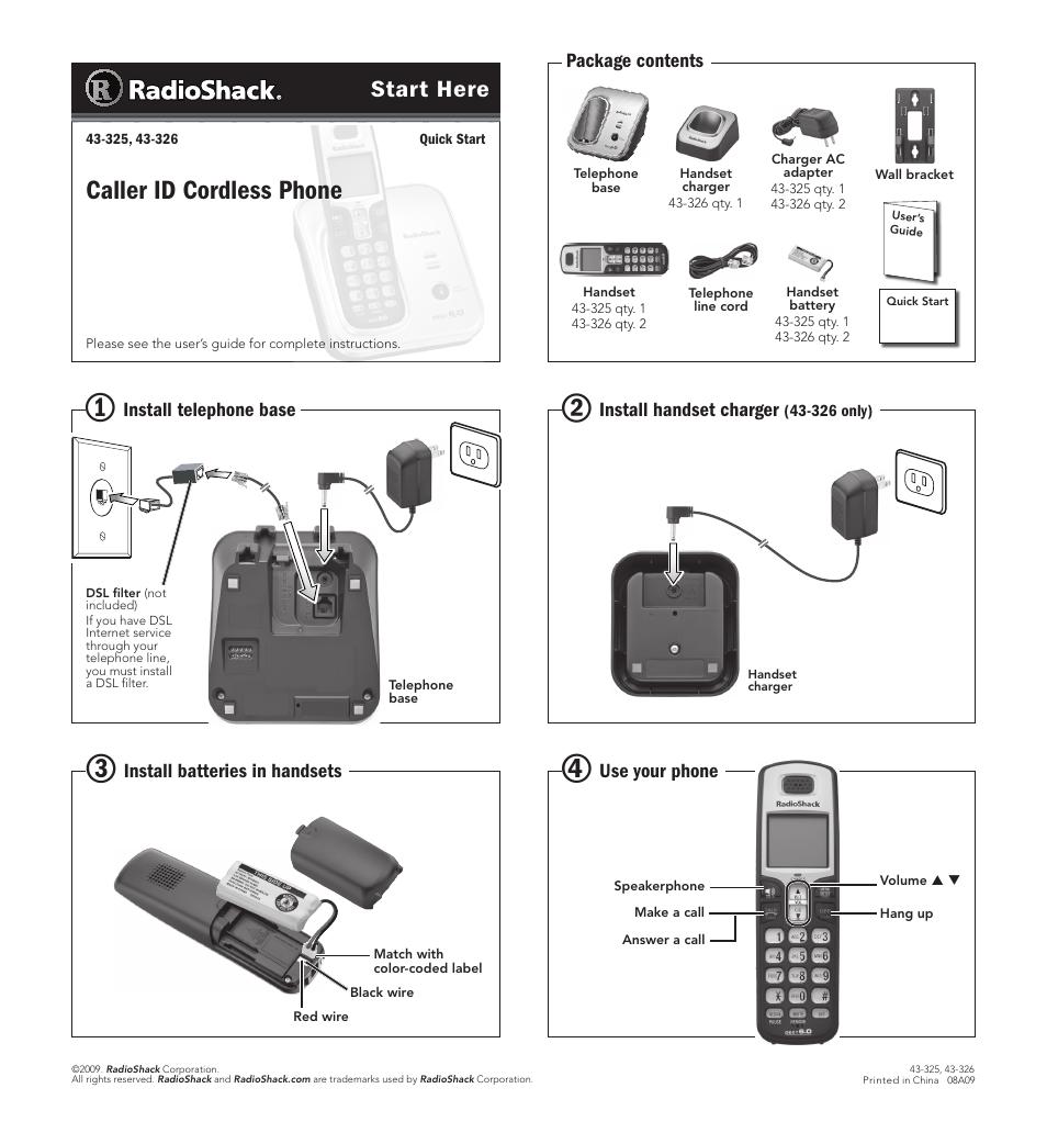 radio shack 43 325 user manual 1 page rh manualsdir com